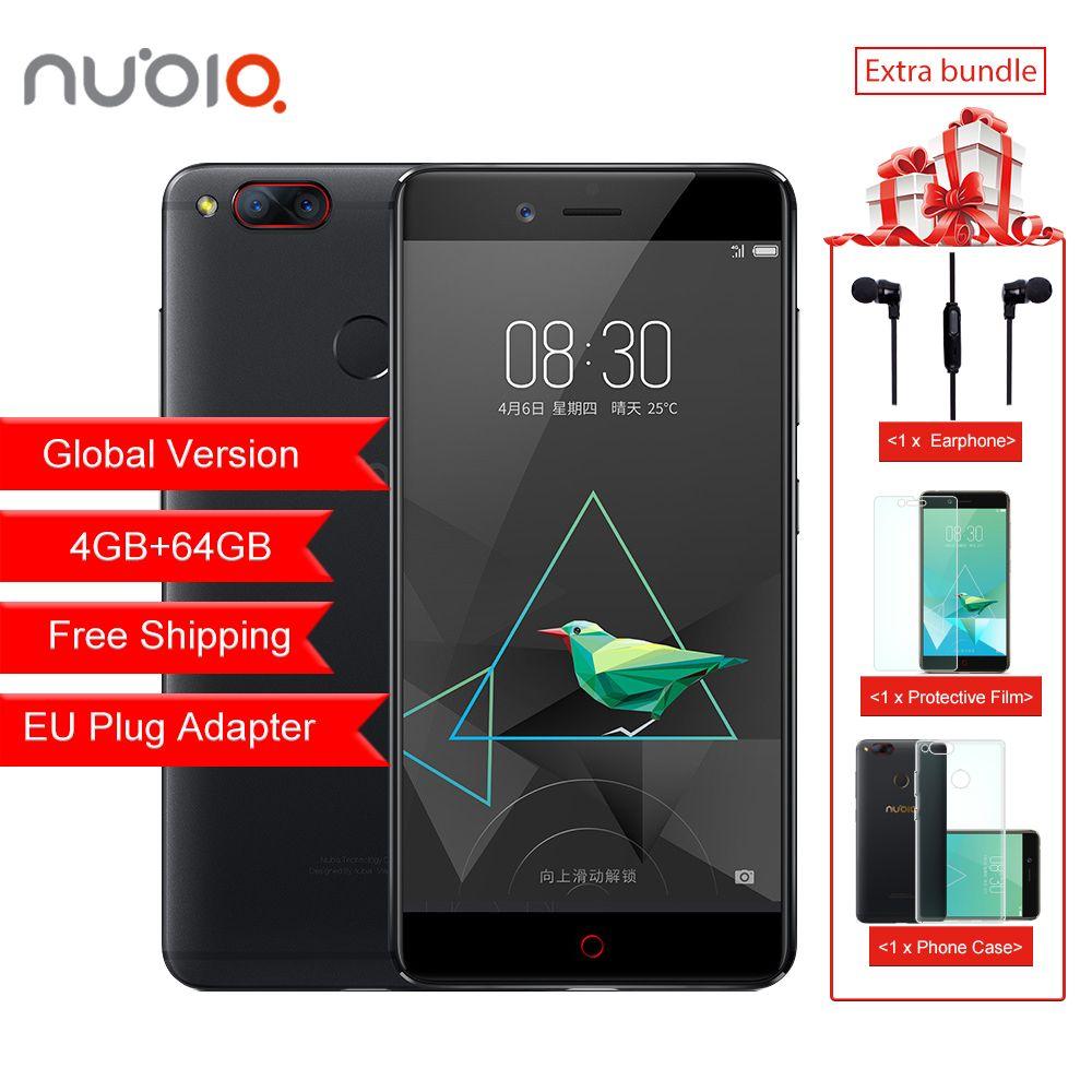 Global Version ZTE Nubia Z17 Mini 4GB RAM 64GB ROM Mobile Phone Snapdragon Cellphone Dual Camera FDD LTE 4G Support NFC OTA