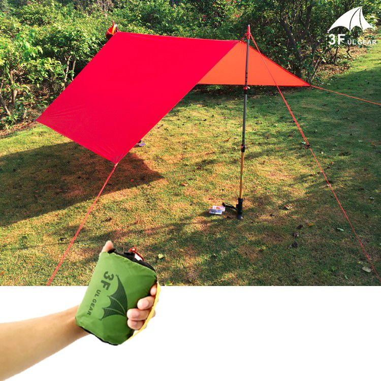 210*150cm 3F ul Gear 20D silicone high quality ultralight outdoor large tarp shelter high quality beach awning