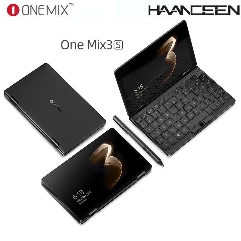 One Netbook Einen Mix 3S Notebook Yoga Tasche Laptop M3-8100Y 16GB 512GB Win 10 Mini Laptop Mit original Stylus Stift Notebook