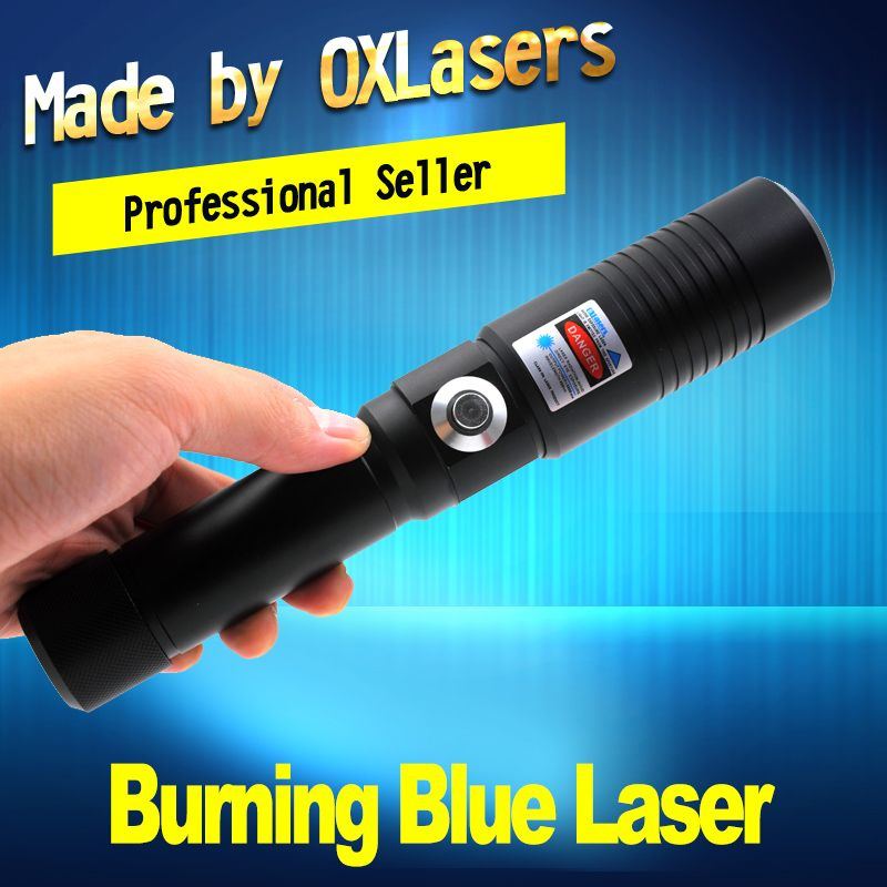 OXLasers OX-BX9 5000m Burning Laser Torch 445nm Focusable blue laser pointer with safety key burn paper free shipping