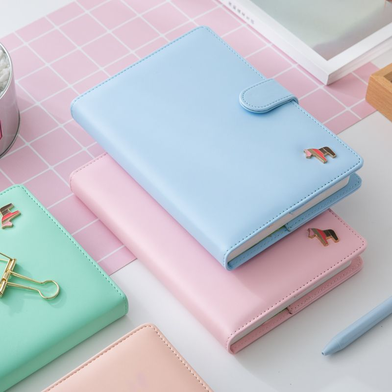 Korean Kawaii Cute Colorful Pages Plan Daily Weekly Monthly Yearly Planner Agenda Dairy Macaron Cover Notebook 2018 Organizer A5