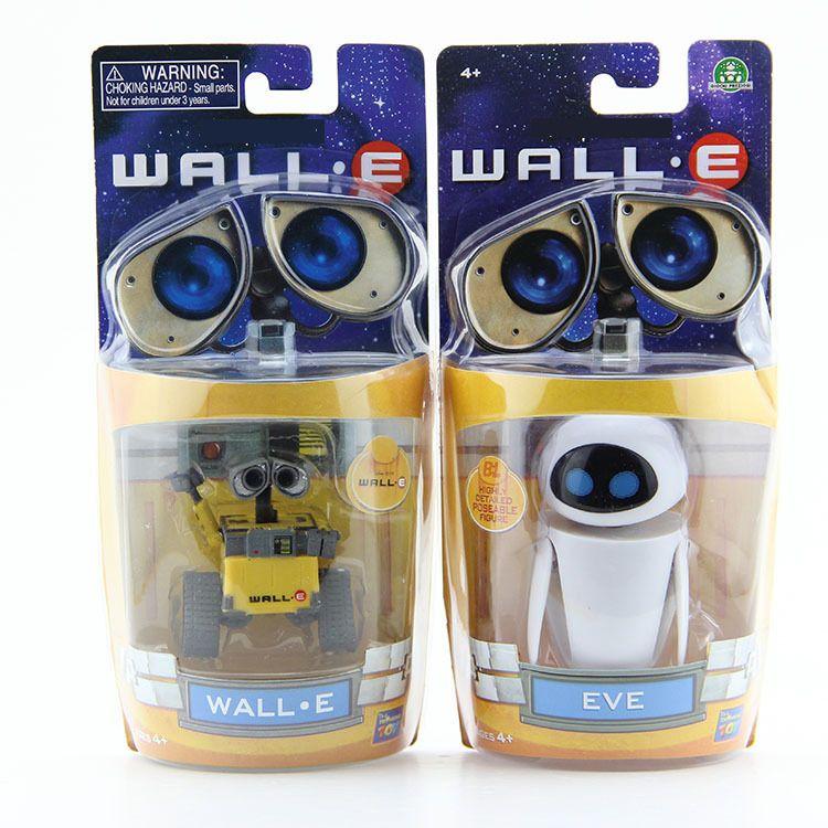 Wall-E Robot Wall E & EVE PVC Action Figure Collection Model Toys Dolls 6cm