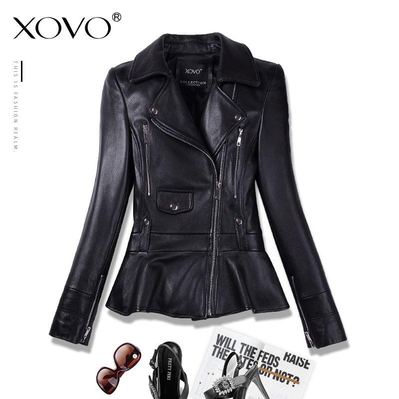 Sheepskin coat motorcycle leather clothing women short jacket rivet leather clothing seedling thin spring and autumn new