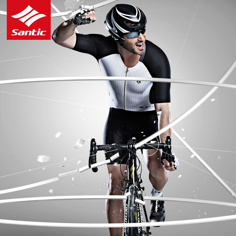 Santic Professional Cycling Jersey Men Racing Tour De France Cycling Clothing Italian Imported Pads Bike Bicycle Jersey Ciclismo