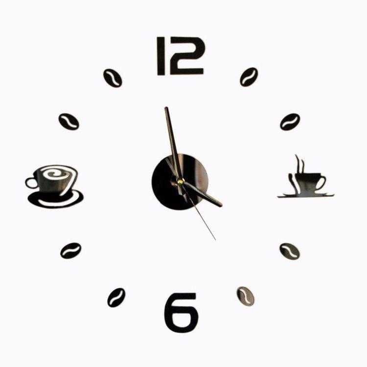 Envío libre 3D Mejor Decoración Del Hogar DIY Del Reloj De Pared Única número de acrílico Pegatinas Autoadhesivas Decoración para el hogar Relojes De Pared Modernos