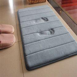 40*60 cm baño alfombra de absorción de agua Shaggy baño de espuma de memoria estera de puerta tapis salle de bain