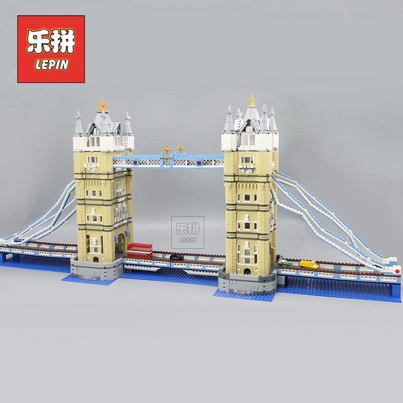 Lepin 17004 City Architecture the London Tower Bridge Set Model Building Blocks Creative DIY Toys Compatible 10214 Children Gift