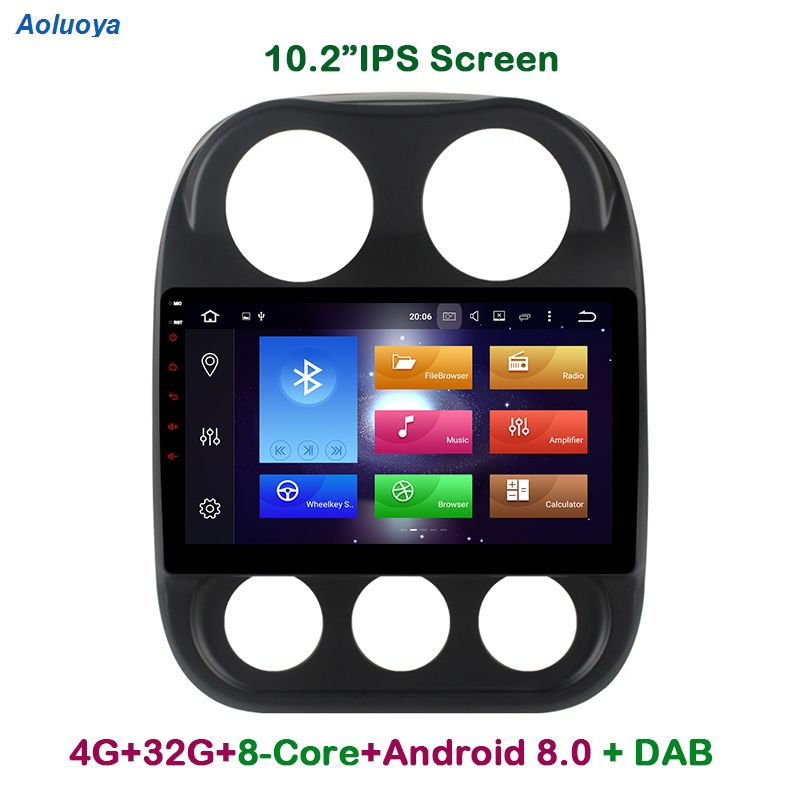 Aoluoya IPS 4 GB RAM 32 GB ROM Octa Core Android 8.0 AUTO DVD RADIO GPS-Player Für JEEP Kompass 2010 2011 2012 2013 2014 2015 2016