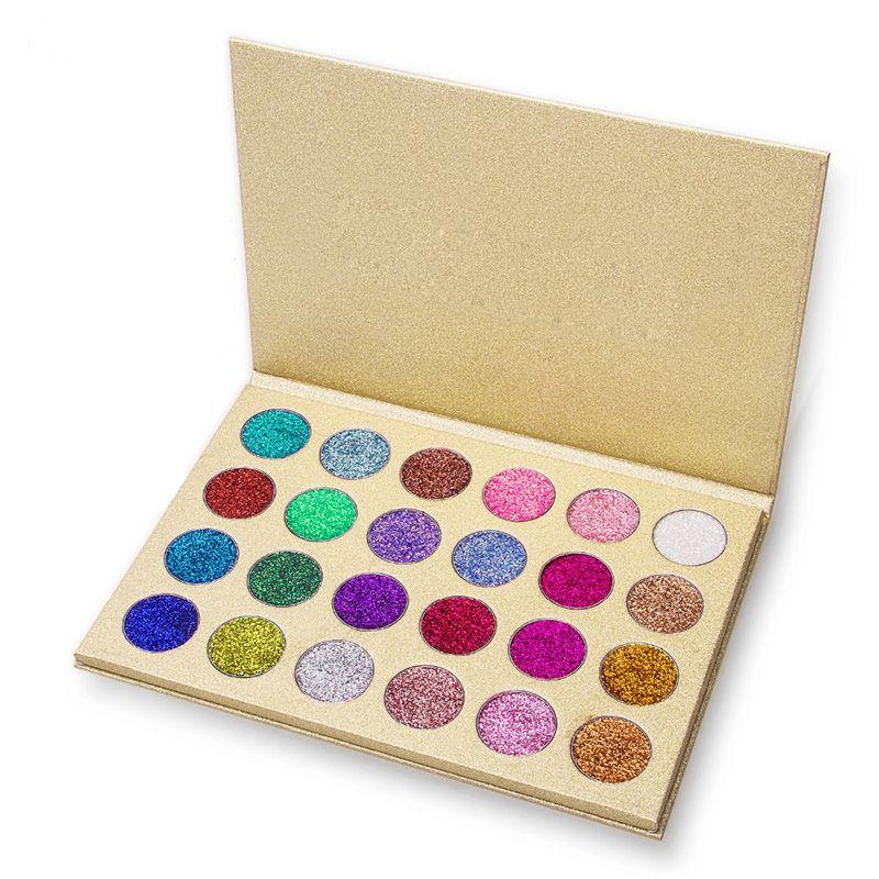 24 Colors Glitter Eyeshadow Palette Pressed Powder Rainbow Diamond Eye Shadow Makeup Palette Nude Shimmer Smokey Eyes Cosmetics