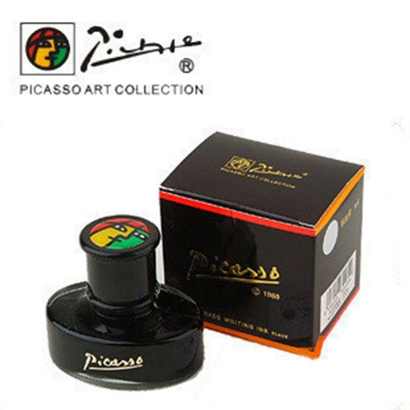 Picasso 50 ml authentique pur noir/bleu noir encre sans stylo plume aquarelle encre tableau blanc encre carbone pimio eau OWT009