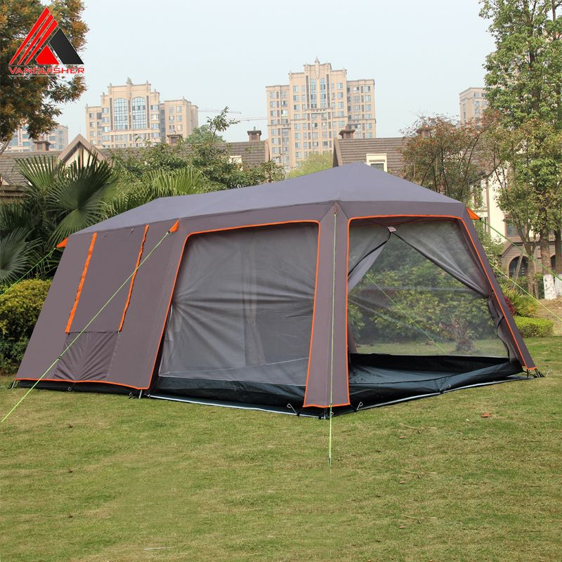 VANQUISHER large space one hall two bedrooms waterproof windproof family party camping tent with top good quality