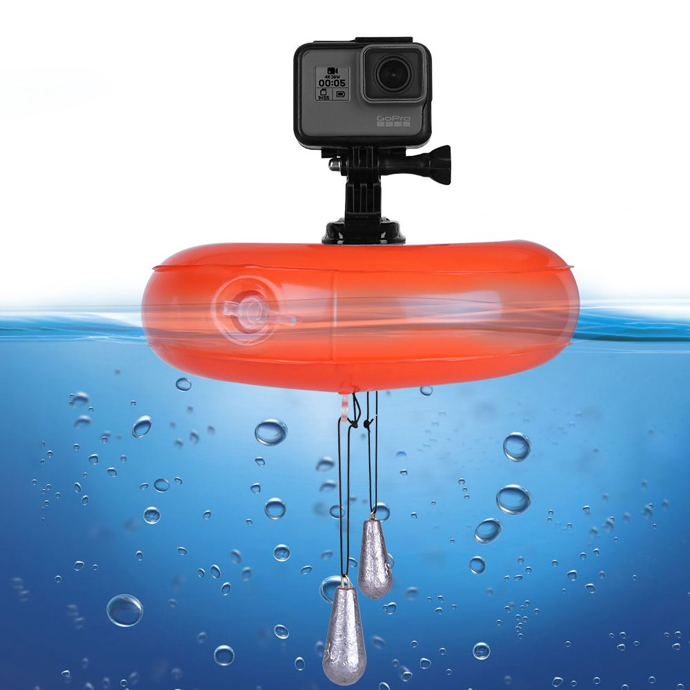 TELESIN Camera Air Float Inflatable Floating Airbag Floaty Platform Buoyant Pad for GoPro Hero 6 5 4 3 Xiaomi YI 4K SJCAM EKEN