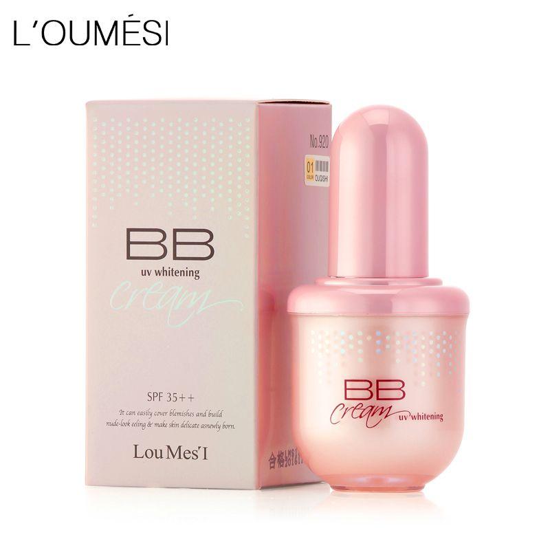 Loumesi hydratant bb crème maquillage fondation anti-cernes crème maquillage nude naturel parfait couverture bb cc crème 45 ml