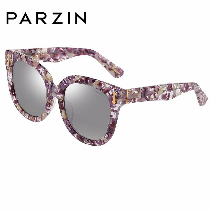 PARZIN marque lunettes de soleil polarisées hommes et femmes amoureux 2018 nouveau rétro grand rond cadre bouclier Anti UV400 conduite lunettes 9667