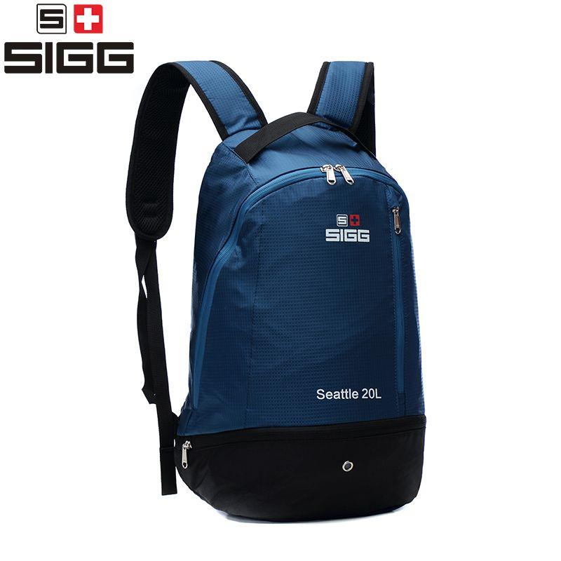 SIGG men women outdoor sports hiking climbing backpack waterproof backpack portable folding ultra light package 20L bag mountain