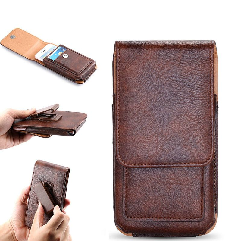 Belt Clip Pouch Case for Redmi 5 Plus 5A Note 7 Cover Waist Leather Case Holster for HUAWEI P30 Galaxy S10 S9 Phone Bag Holster