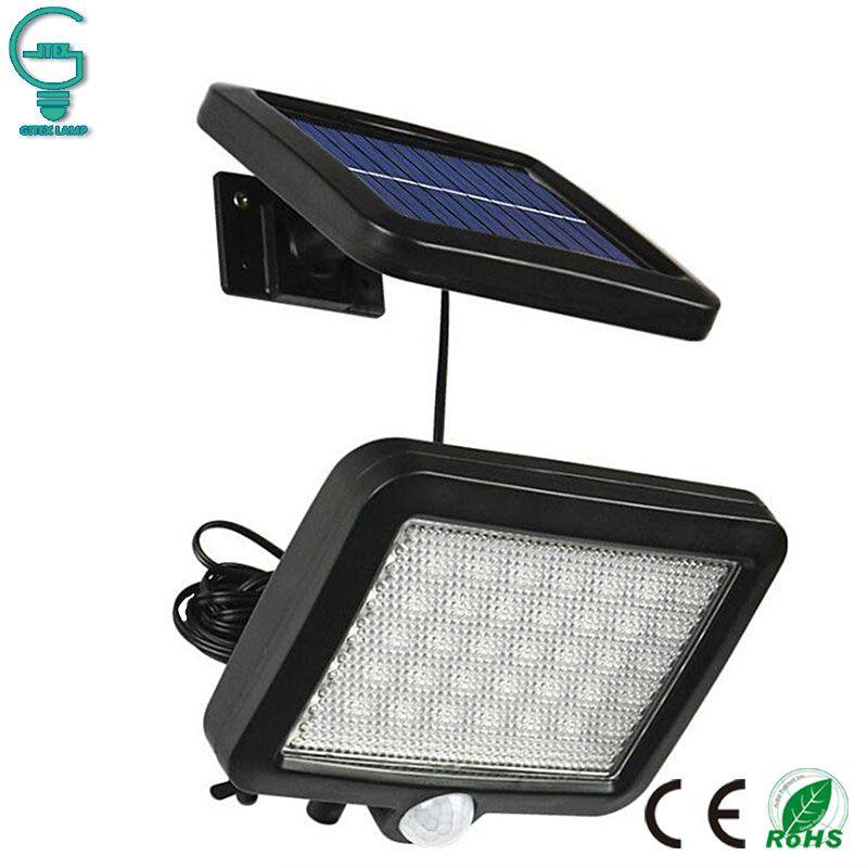 56 LED extérieur solaire applique murale PIR capteur de mouvement lampe solaire étanche capteur infrarouge lumière de jardin