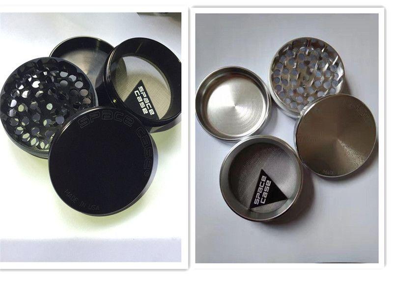 Top marque argent/noir aluminium 63mm espace cas broyeur CNC métal tabac herbe broyeur pour fumer les mauvaises herbes VS SharpStone