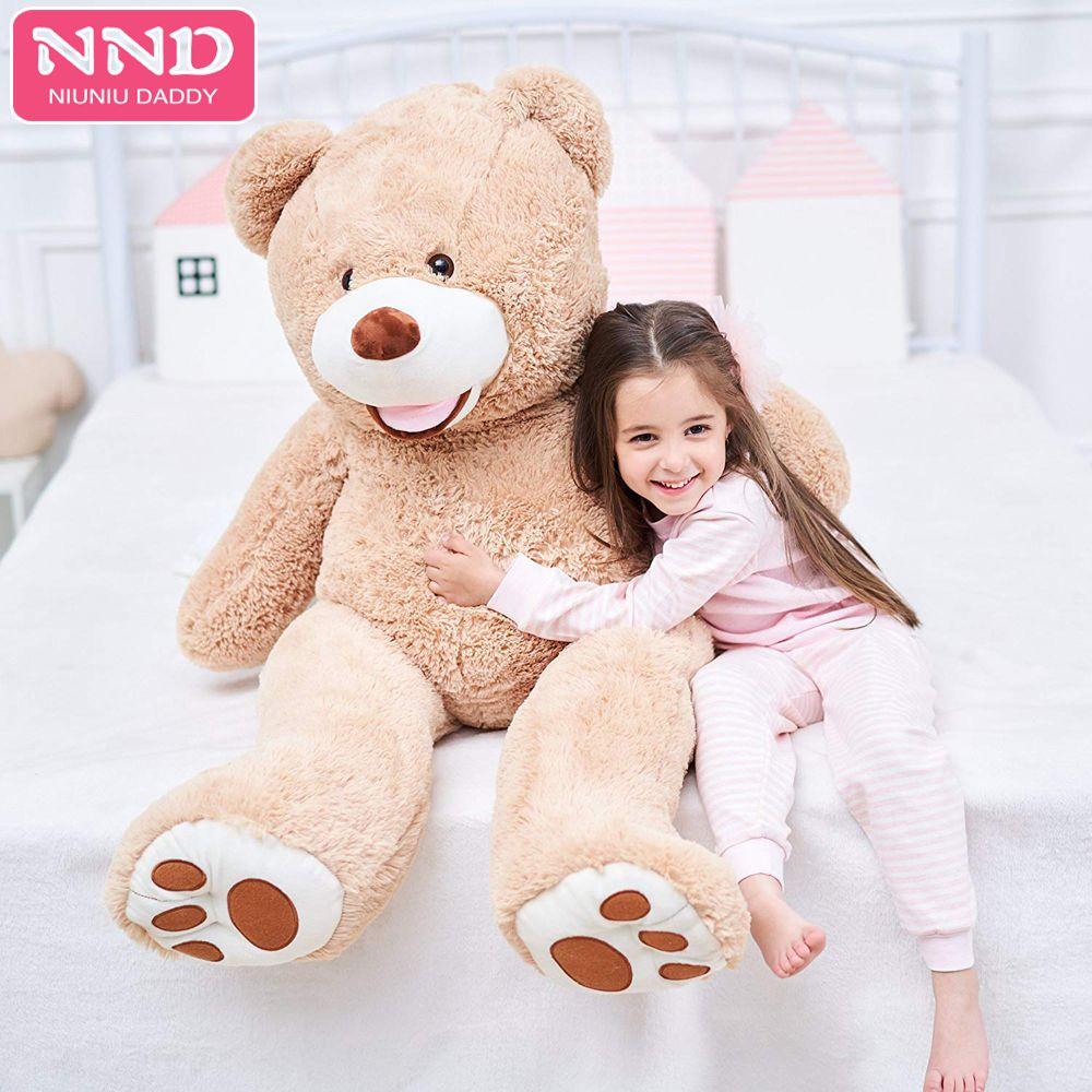 Niuniu papa 80cm à 260cm géant ours en peluche peau en peluche ours américain peluche jouet USA Bearskin cadeaux de noël peaux non rembourrées