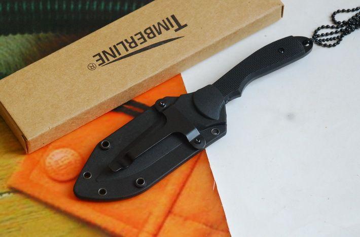 Exquis Top qualité Camping en plein air en acier lame fixe Portable survie pliant couteau de chasse collier chaîne couteaux
