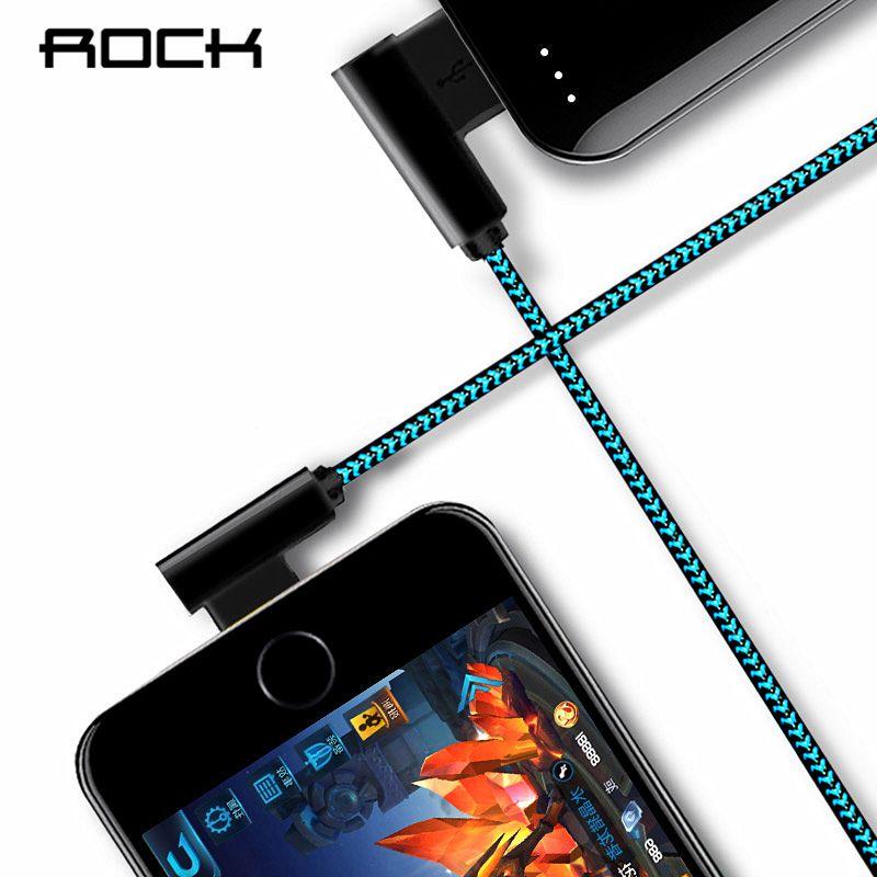 ROCK L Biegen Usb-ladekabel Für iPhone X 8 7 6 5 Plus Nylon Geflecht 2.1A Schnelle Ladegerät Daten-synchronisierungs-kabel Buy One Get One freies