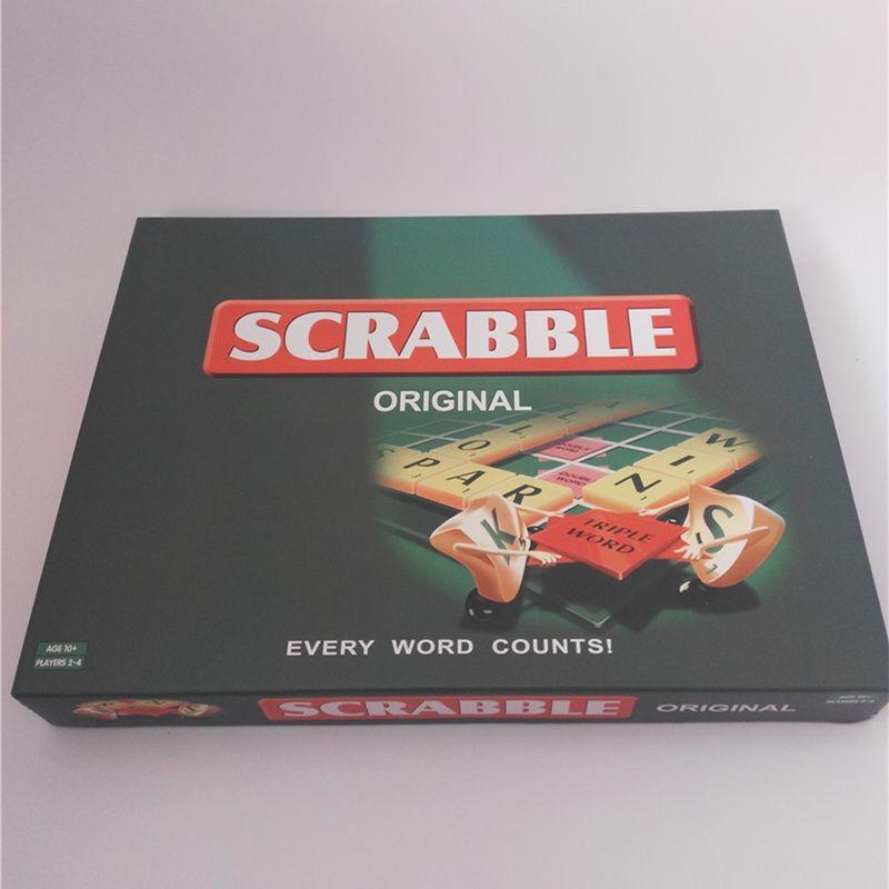 4 langues Qualité Scrabble Jeux Anglais Français Espagnol Russe L'orthographe D'apprentissage Puzzles Enfants Table Jigsaw