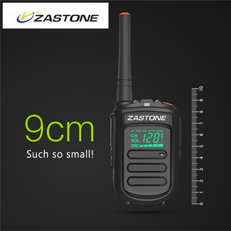2pcs Zastone Mini9 Mini Walkie Talkie UHF 400-470mHz 2 Way Radio Kids Portable Walkie Talkies Ham CB Radio Mini Walkie-talkie