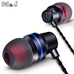 M&J V1 In-Ear Clear Bass Earphone Fine Workmanship Headset With Microphone fone de ouvido For Phone Iphone Sumsang Xiaomi PC DM1