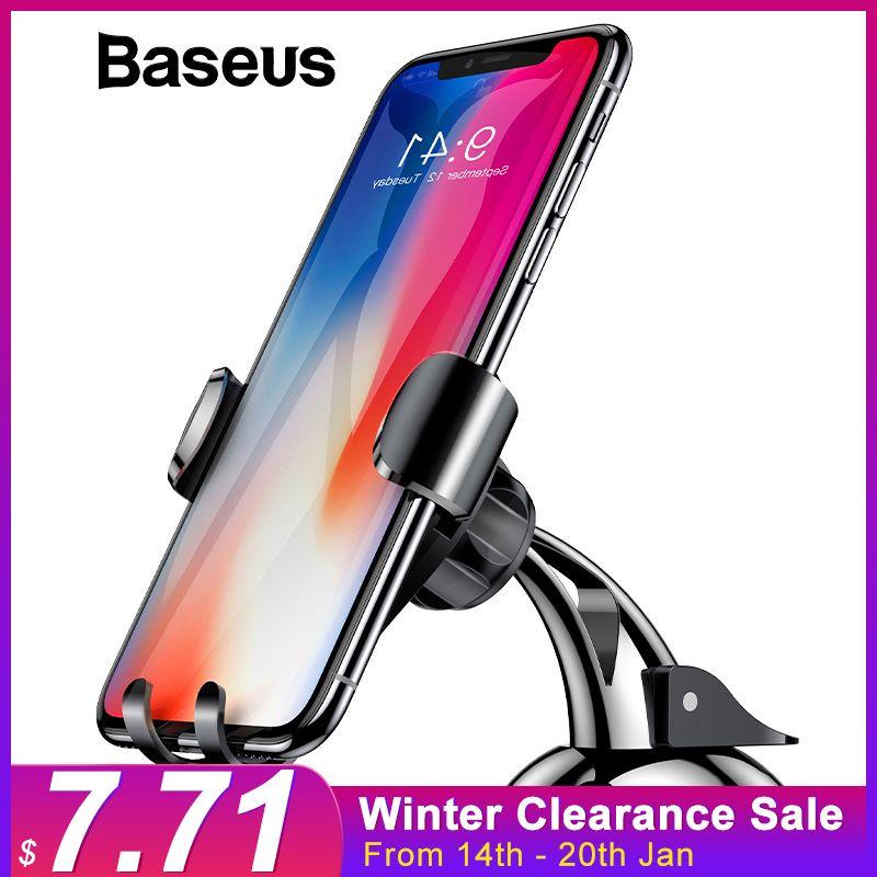 Baseus Universel Voiture Gravité Téléphone Sucker Ventouse Pare-Brise Support De Voiture Pour iPhone XS X Samsung S9 Téléphone Titulaire stand