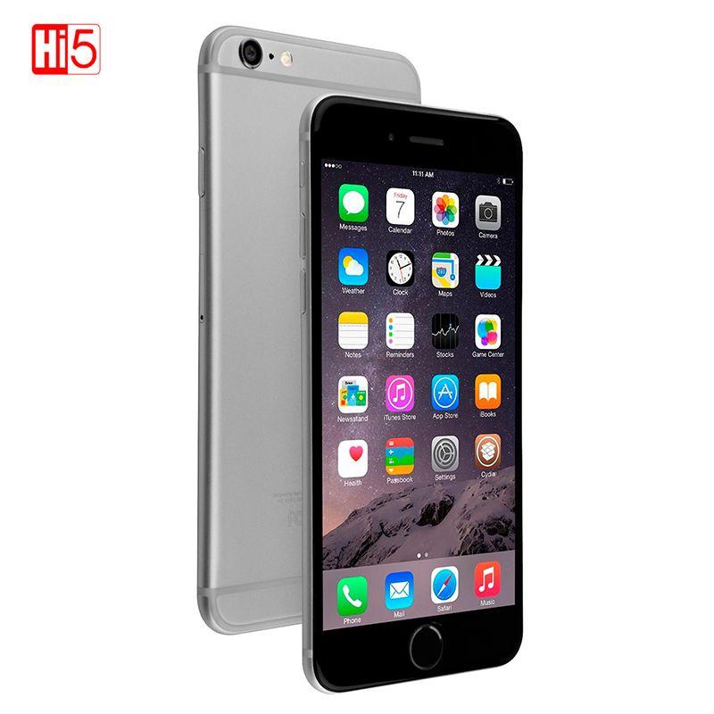 Débloqué Original Apple iPhone 6 Smartphone IOS Dual Core téléphone portable 8.0 MP Caméra 4.7 pouces 3G WCDMA 4G LTE 16/64 GB/128 GB ROM