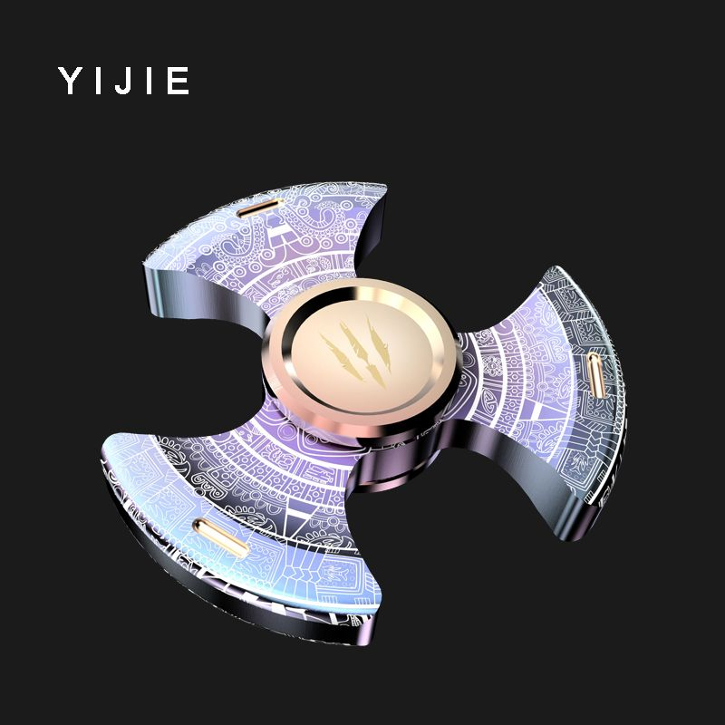 YIJIE TripleSpinner Fidget spinner Toy metal Hand Spinner For Autism And ADHD Children Adults Focus Rotation Time Long