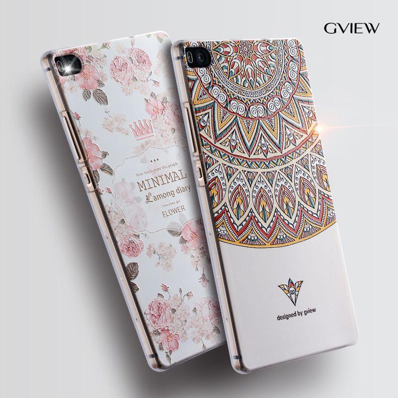 Gview Huawei p8 téléphone cas Huawei p8 dessin animé en Relief image peinture Silicone 5.2