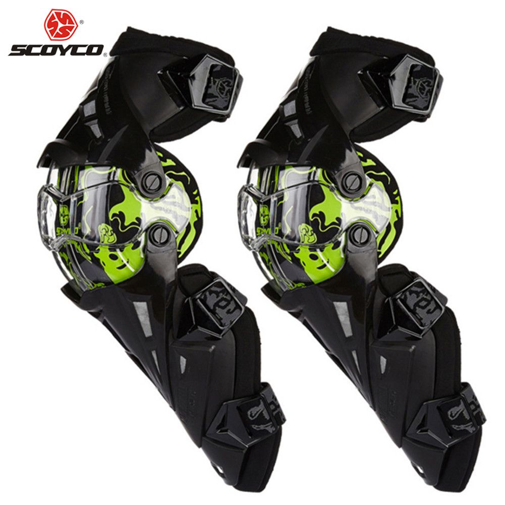SCOYCO Motorcycle Knee Protection Motocross Protector Pads Guards Motosiklet Dizlik Moto Joelheira Protective Gear Kneepads