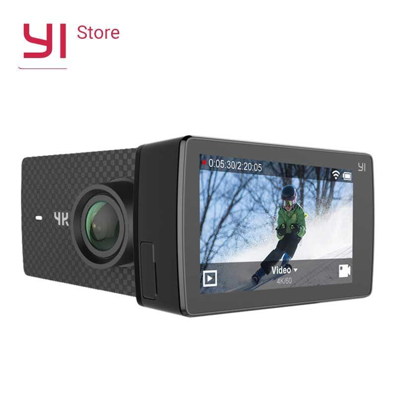 YI 4 k + (Plus) action Caméra Étanche Cas International Édition PREMIÈRE 4 k/60fps Amba H2 SOC Cortex-A53 2.2