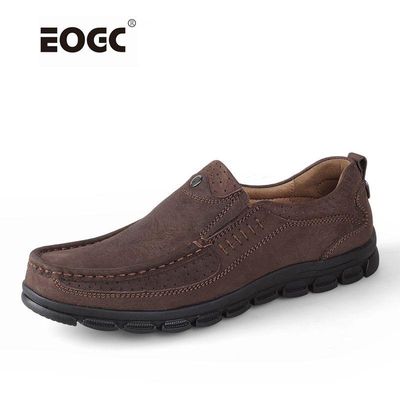 Из натуральной кожи мужские туфли на плоской подошве туфли модные мужские лоферы ручной работы, мужская повседневная обувь, мокасины для му...