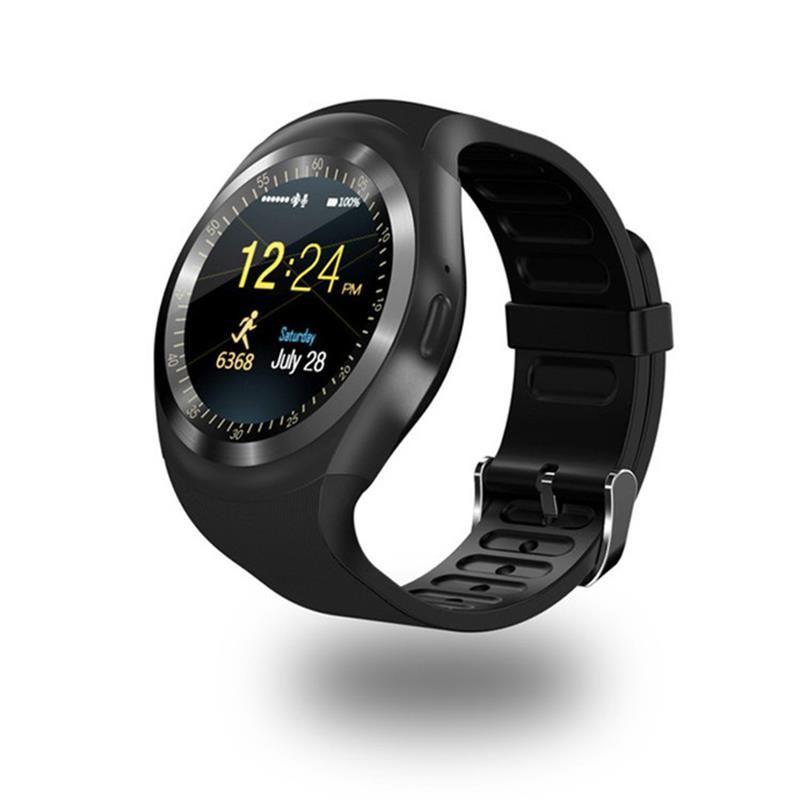 696 Bluetooth Y1 montre intelligente Relogio Android SmartWatch appel téléphonique GSM Sim à distance caméra Information affichage podomètre de sport