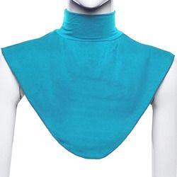 Islamique femmes Hijab Extensions col chèque couverture arrière chemise sous haut Abaya islamique
