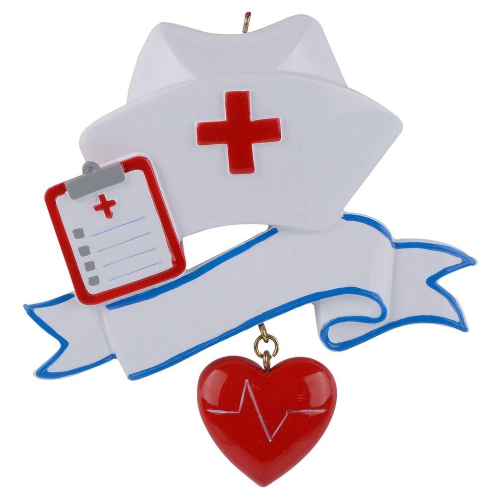 Ornement de noël en polyrésine personnalisé infirmière en gros comme pour les cadeaux de jour d'infirmière de vacances