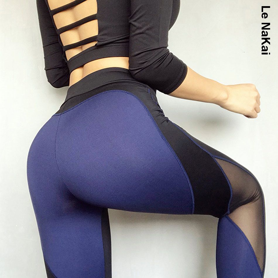Heart Booty Women Yoga Pants Push Up Booty Leggings High Waist Mesh Yoga Leggings workout Gym Tights Jogging pants for women