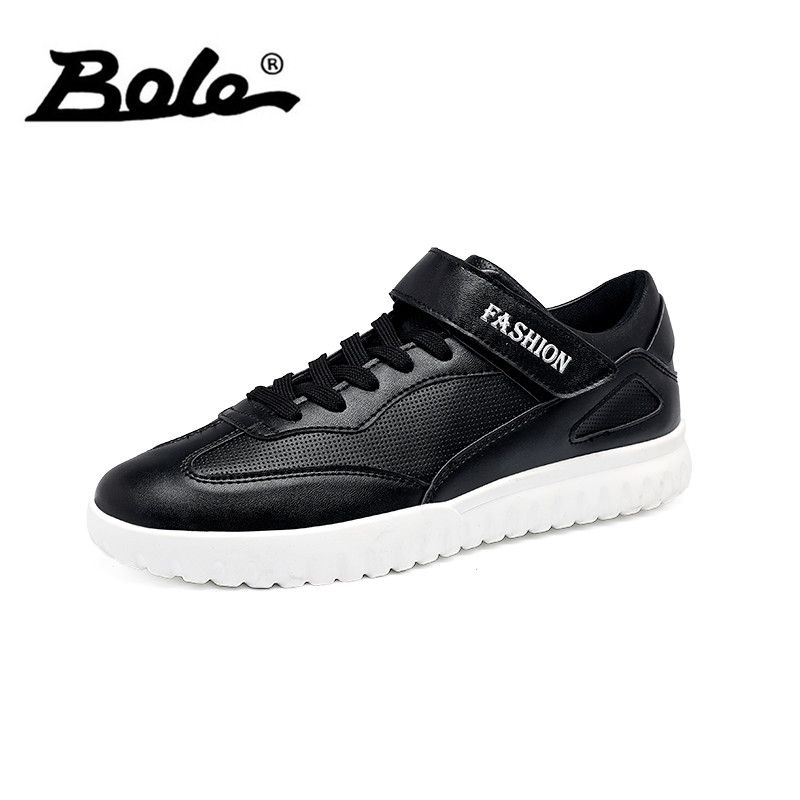 BOLE Size 39-45 Fashion Men Casual Shoes Rubber Sole Non-slip Lace Up Sneaker Round Toe Men Flats Waterproof Casual Shoe for Men