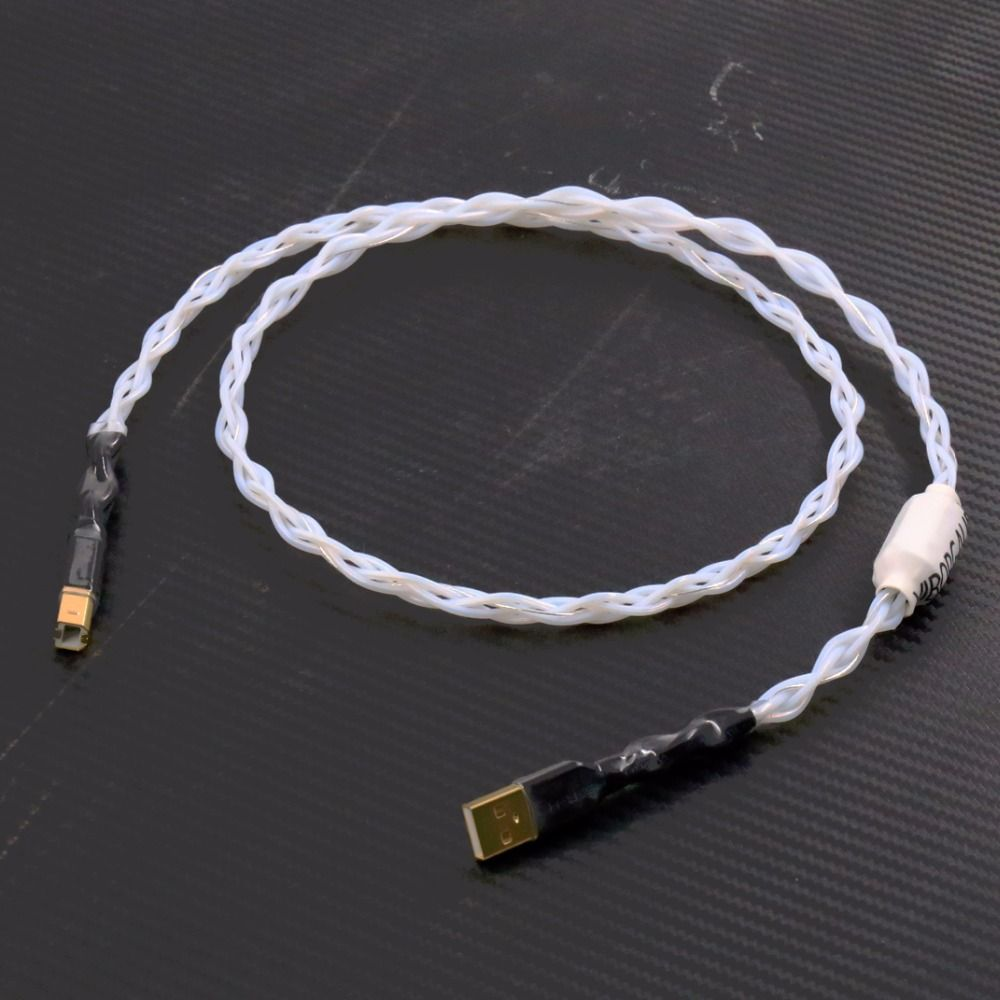 Pure silver decoder hifi fever USB (A - B) line DAC data cable 1M audio usb hifi cable