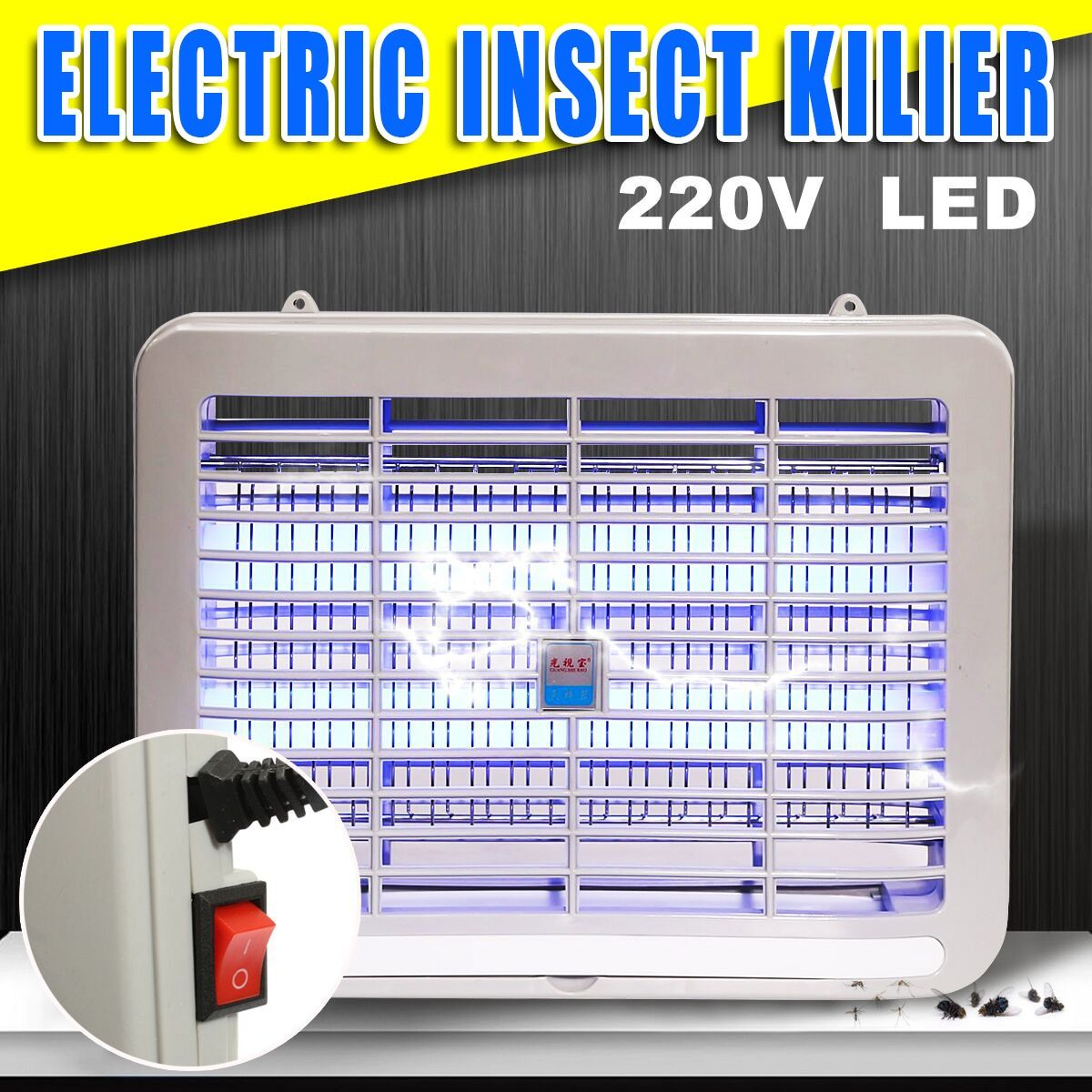 220V Electric Mosquito Killer Lamp Indoor 2W LED Night Light Bedroom Anti Insect Killing Pest Repeller Wasp Bug Fly Zapper Trap