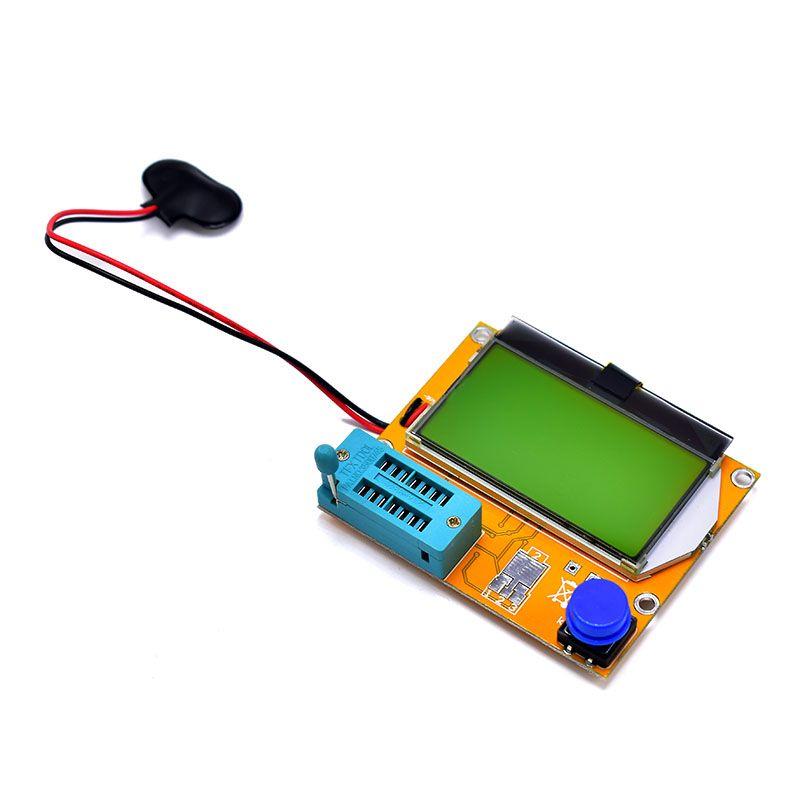 FGHGF Brand V2.68 ESR-T4 Mega328 Digital Transistor Tester Diode Triode Capacitance ESR Meter MOS/PNP/NPN LCR 12864 LCD screen
