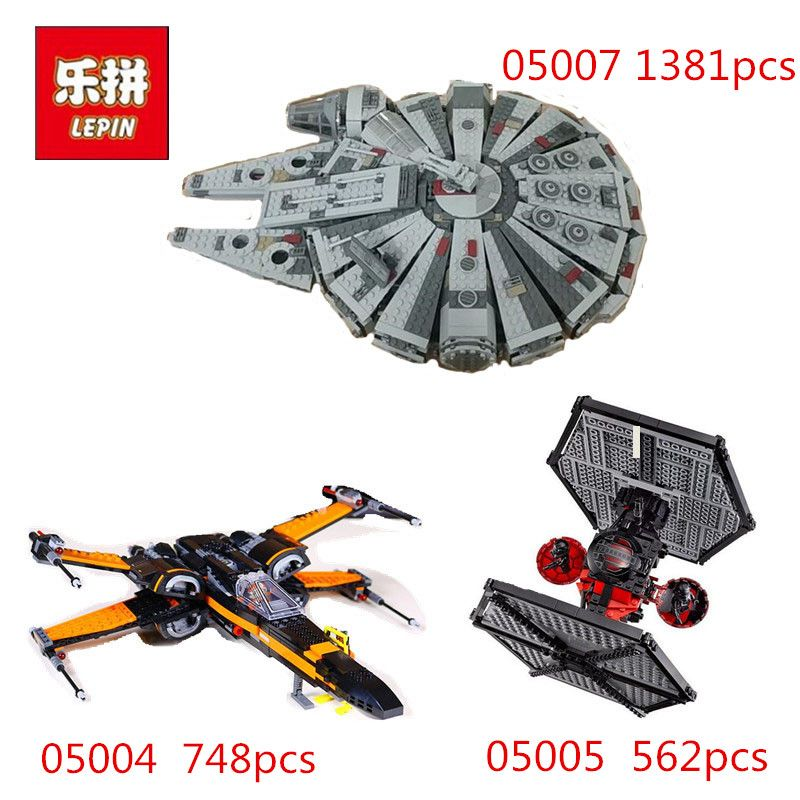 Lepin StarWars 05004 05005 05007 Millennium Falcon Model Building Blocks Legoingly 75102 75101 10467 toys Gift