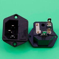 YuXi AC power socket industrial socket 8B C14 power supply ICE Insurance Block belt With ears 15A 250V