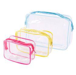 ETya Reise PVC Kosmetik Taschen Frauen Transparent Klar Zipper Make-Up Taschen Organizer Bad Waschen Machen Up Tote Handtaschen Fall