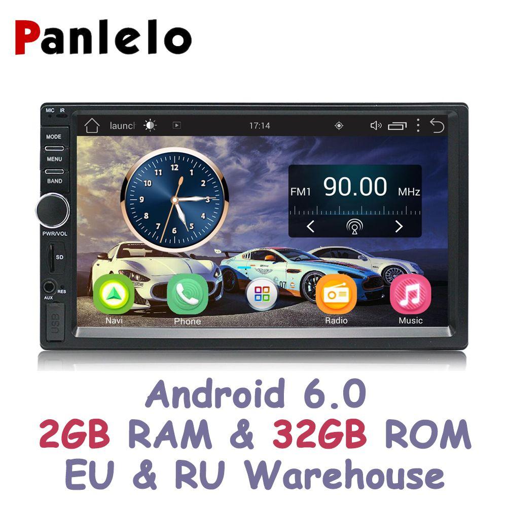 Panlelo S1 Plus 2 Din Android 6.0 2G RAM 32G ROM 7 inch 1080P GPS Radio 2din Android Multimedia For Lada Vesta Chevrolet Cruze