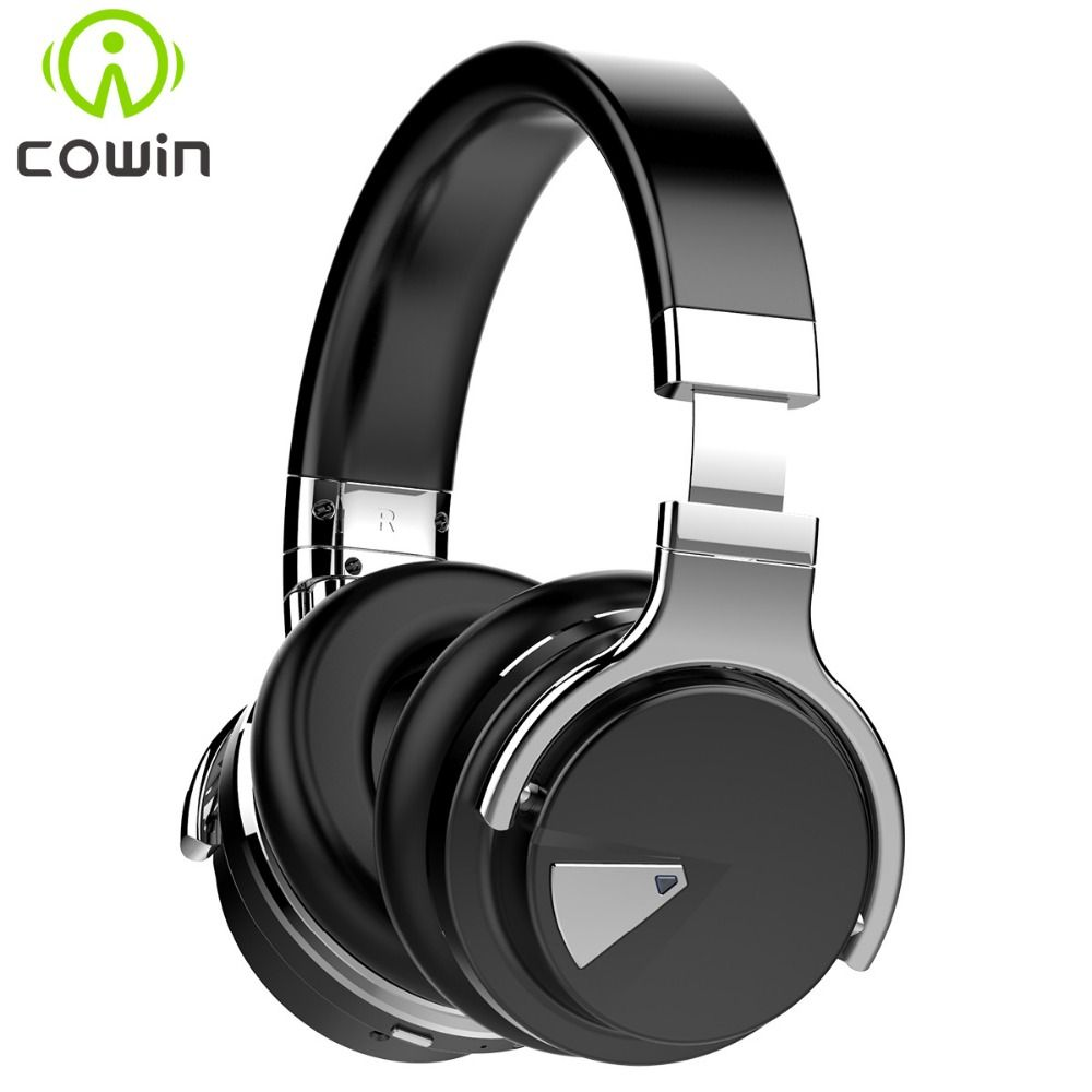 Original Cowin E7 ANC Active Noise Cancelling Wireless Bluetooth Headphones Over Ear wireless Headset with microphone for phones