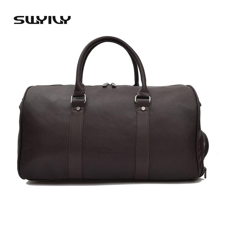 Swyivy Для мужчин большой Ёмкость из искусственной кожи спортивная сумка Фитнес Спортивные сумки Duffel Сумка дорожная плечо сумки мужские сумки