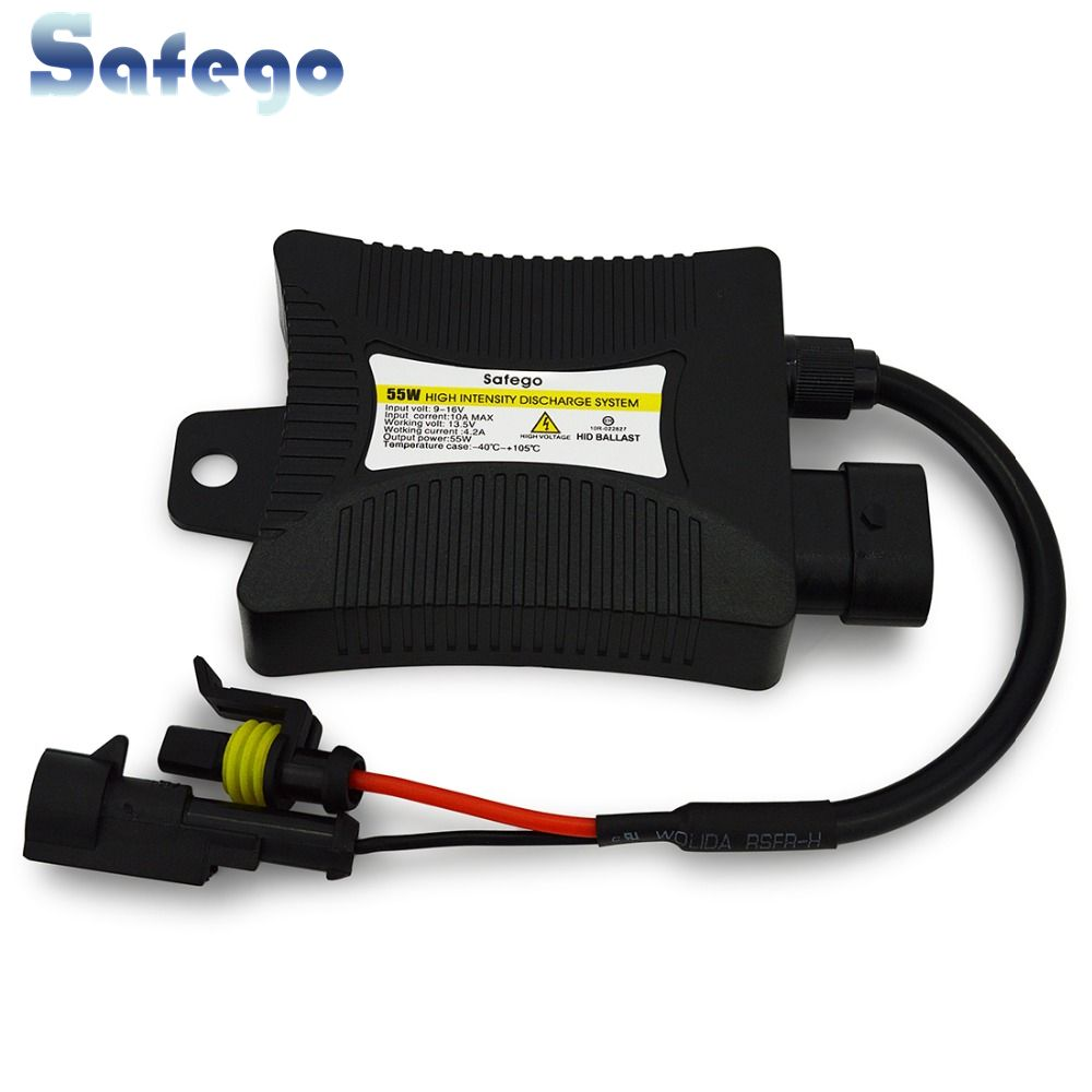 Safego 1pcs 55W Xenon HID Ballast Kit Digital Slim Electronic Blocks Ignitor For Car Light Headlight H4 H7 H3 H1 H11 9005 9006